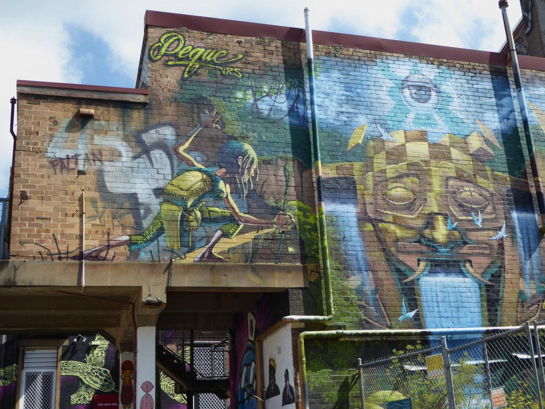 Street Art in Katoomba, Australien