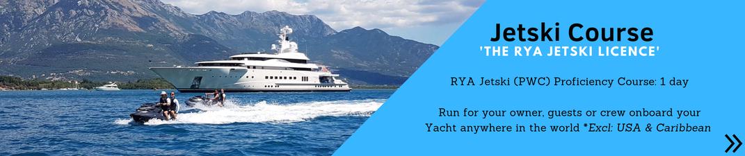 Superyacht crew RYA Jetski Licence Course ©Marine Education ©Superyacht PWC