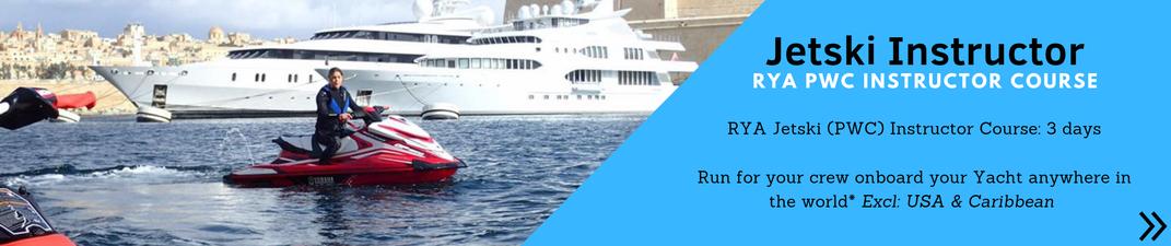 Superyacht crew RYA Jetski Instructor Course ©Marine Education ©Superyacht PWC