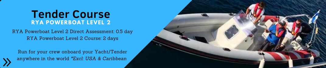 Superyacht crew RYA Tender Powerboat Level 2 Course ©Marine Education ©Superyacht PWC