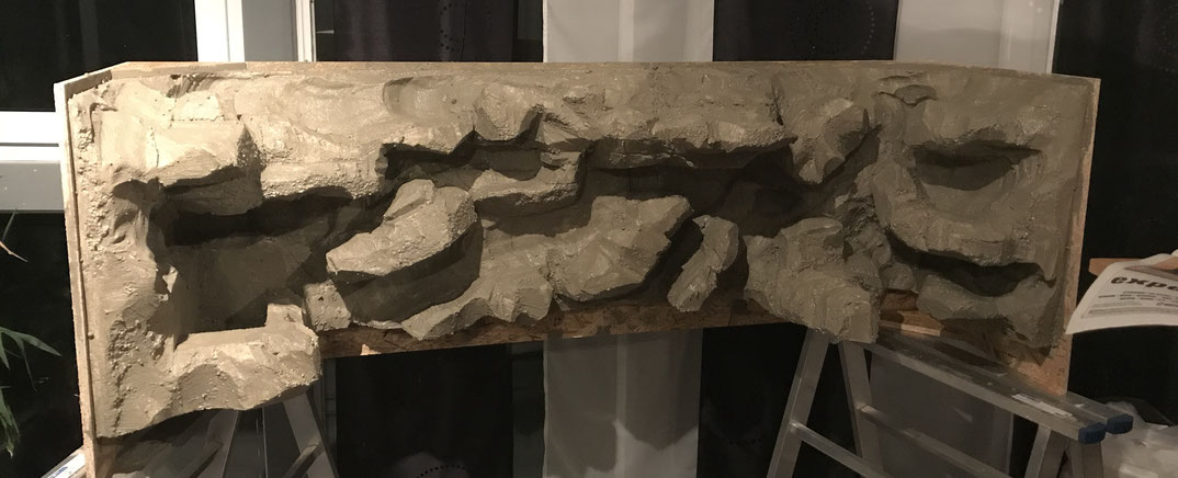 Styropor Fliesenkleber Rückwand terrarium Leopardgtecko