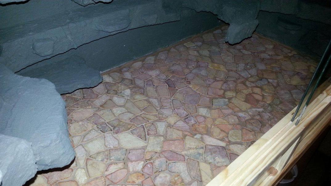 Leoaprdgecko Terrarium Fliesen Naturstein Mosaik