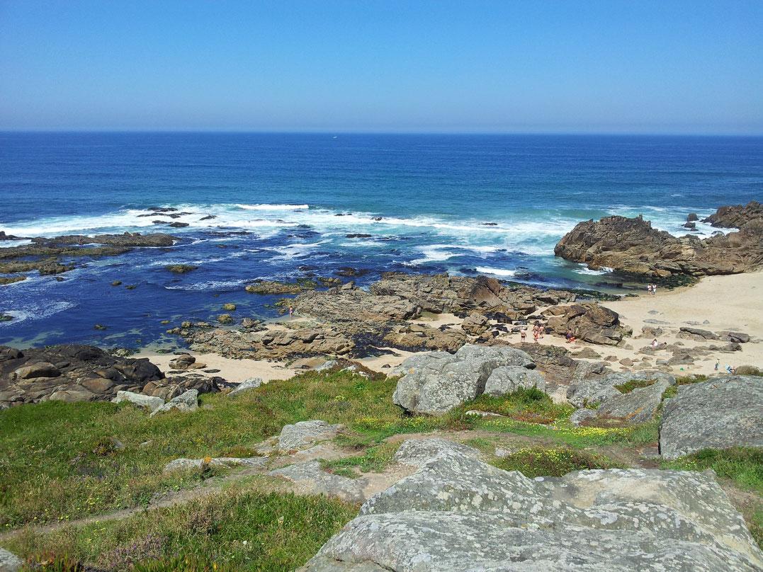 Der gekennzeichneter Küstenweg Caminho da Costa verläuft meistens mehrere km entfernt von der Küste. Ich gehe aber direkt an der Küste Richtung Norden.