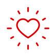 Strahlendes Herz, innerer Frieden, Lebensfreude