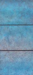 O.T. 2017 150x50 cm, Spachtelmasse, Sand, Tempera auf Leinwand