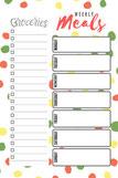 Planifica tus menús con este planificador de magnético - AorganiZarte