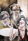 """""""Les vieilles, en bande"""" 120/80cm, 2011"""