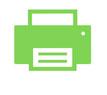 Grafik mit Drucker zum Angebot des Downloads und Ausdrucks des Online-Kontaktformulars an design + fotoart.