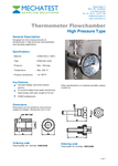 Mechatest Thermometer Flowchamber high pressure