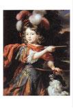 アドニスの装いの少年の肖像