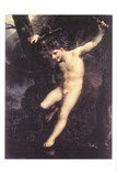 水辺で体を揺すって遊ぶ子どものゼフィロス