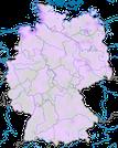 Karte zum Vorkommen des Dunkelwasserläufers (Tringa erythropus) in Deutschland.