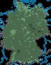 Karte zur Verbreitung in Deutschland