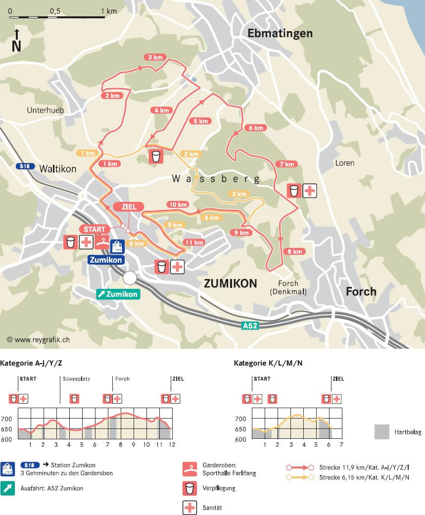 ZKB ZüriLaufCup 2018 - Zumiker Laufstrecke