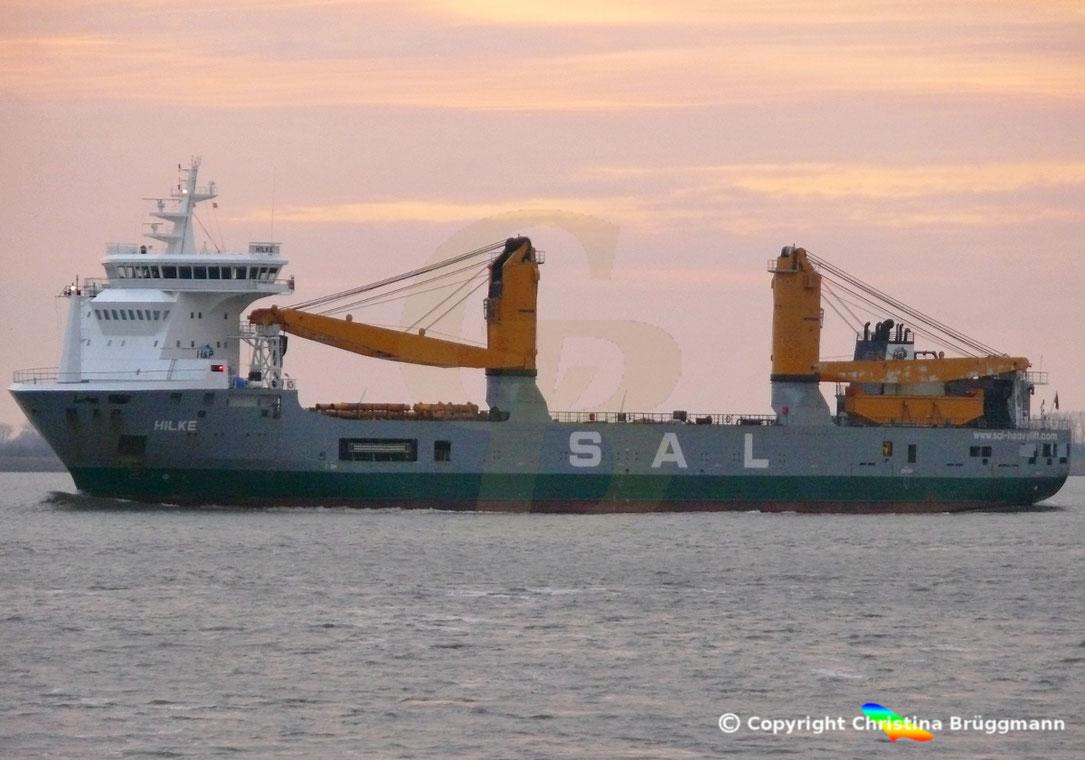 SAL Schwergutfrachter,/Heavy Lift vessel HILKE