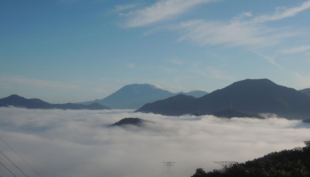 2019年初秋、明智峠からの雲海