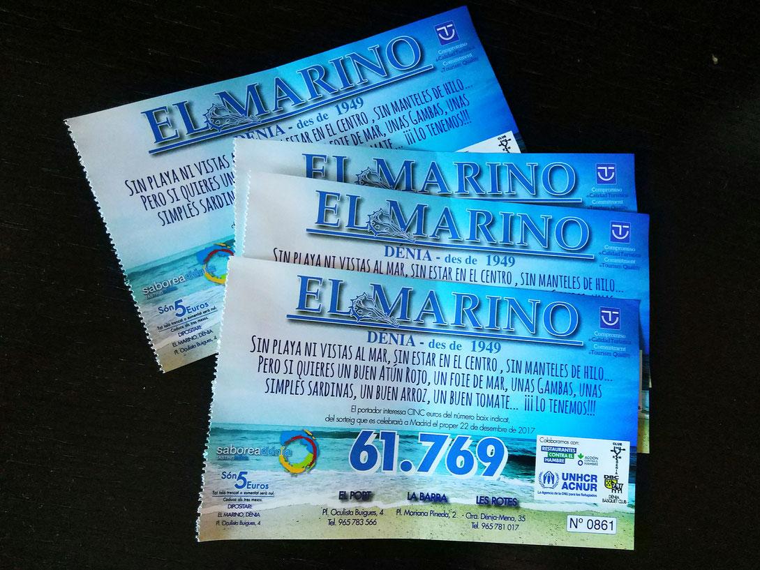 El número de lotería que nos acompaña desde hace décadas en el Marino Port. Sin recargo