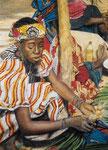 afrikanische Marktszene