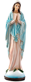 Our Lady of Grace statue with clasped hands cm. 60