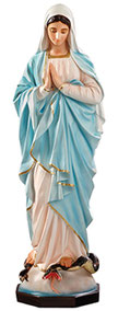 Our Lady of Grace statue with clasped hands cm. 135