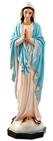 Our Lady of Grace fiberglass statue with clasped hands cm. 110