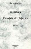 Karin Schröder/™Gigabuch Forschung/Aufsatz/Das Klonen/1998