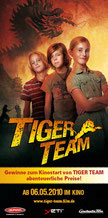 Tiger Team im Kino mit Yeti Junior Bag Adventure