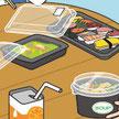 食品容器 企業レポート イラスト