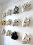 organe, coeur, porcelaine, coeurs en ceramique Pastor & Bovina -design déco céramique