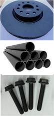Water-based black zinc flake coating with very good corrosion protection on steel, cast iron and other components made of iron
