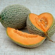 Zuckermelone mit dunkelgelben Fruchtfleisch