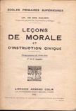 Livre scolaire leçons de morale et d'instruction civique (années 50)