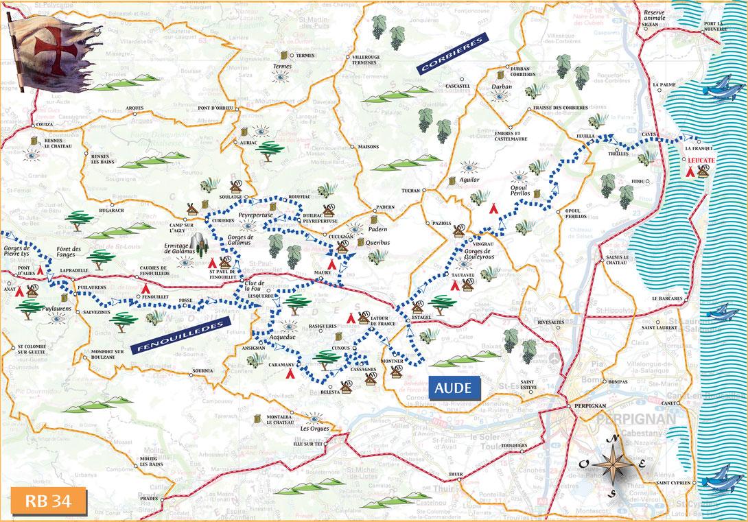 road book, pistes, Vibraction, randonnées, voyages, france, pyrénées, ariege, aude, languedoc, 4x4, sentier, Puylaurens, Foix, Leucate, Cucugnan, Carcassonne