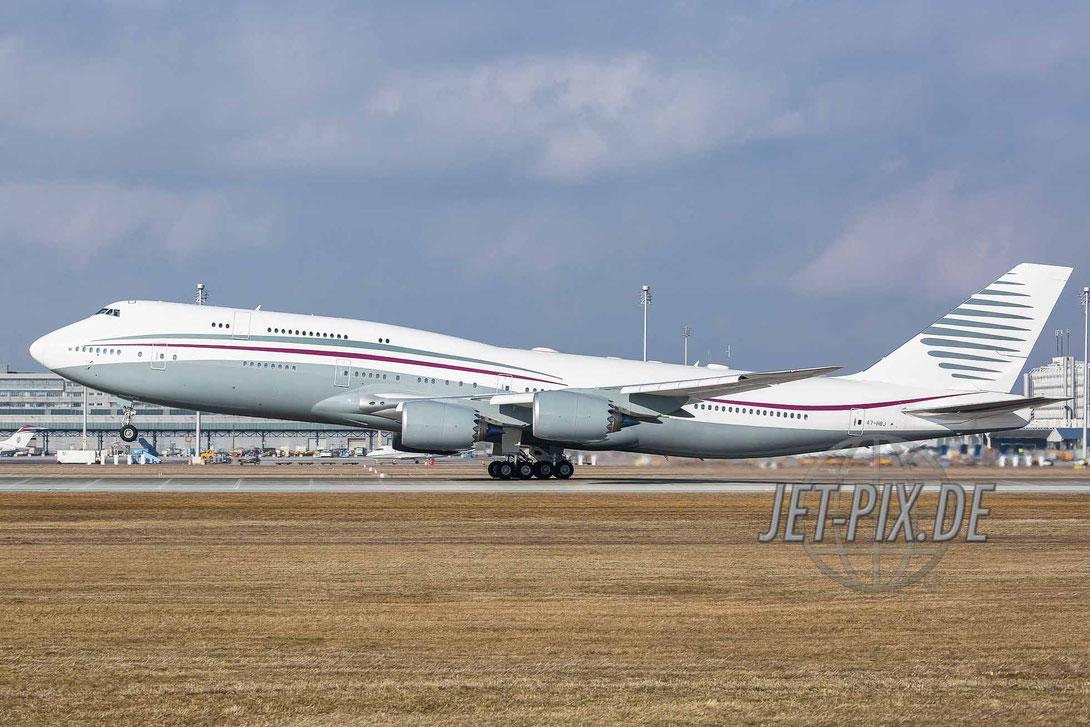 A7-HBJ Qatar Amiri Flight Boeing 747-8KB (BBJ) Flughafen München Sicherheitskonferenz 2017