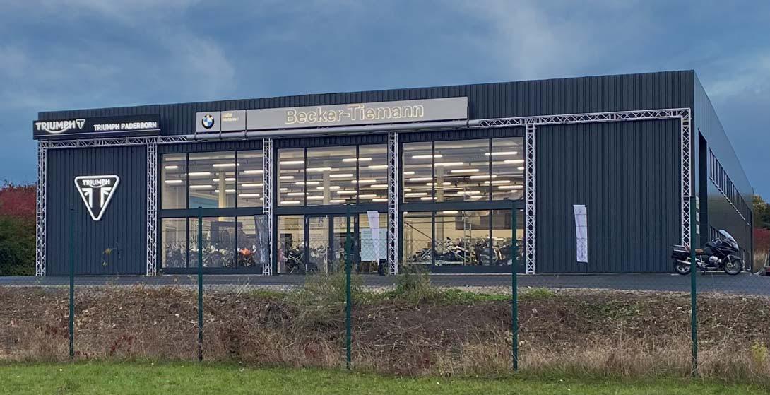 Becker-Tiemann Motorrad BMW Motorrad Vertragshändler und Triumph Motorcycles Vertragshändler in Paderborn