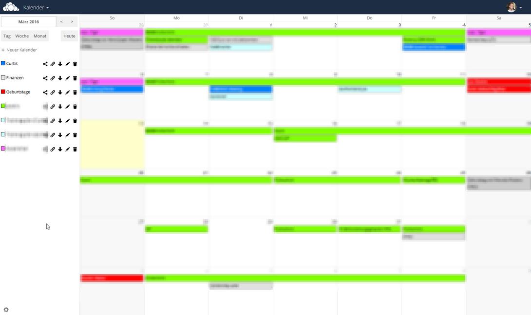 Kalender importieren und ansehen