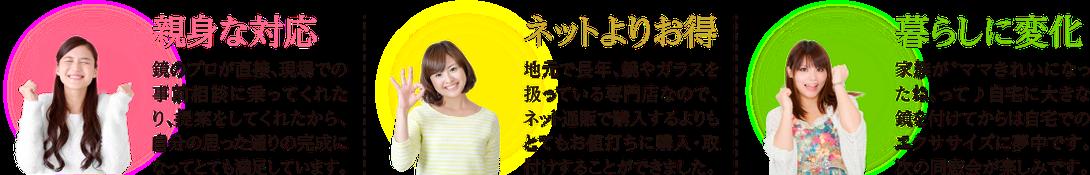 岐阜・愛知・名古屋のガラス・鏡の専門店 激安施工