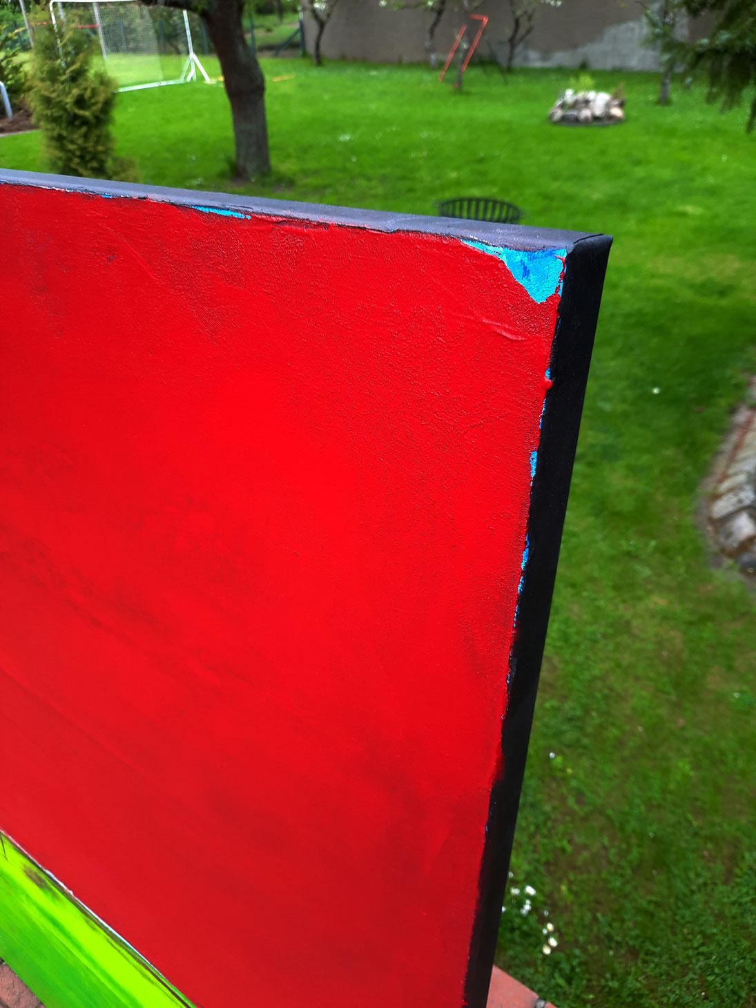 Bild Wiesenabschnitte -schwarzer Keilrahmen