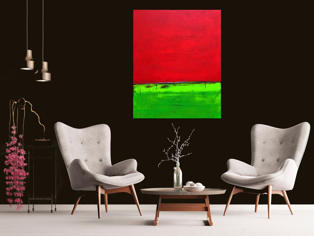 Bild - 130 x 100 cm - Landschaftsbild