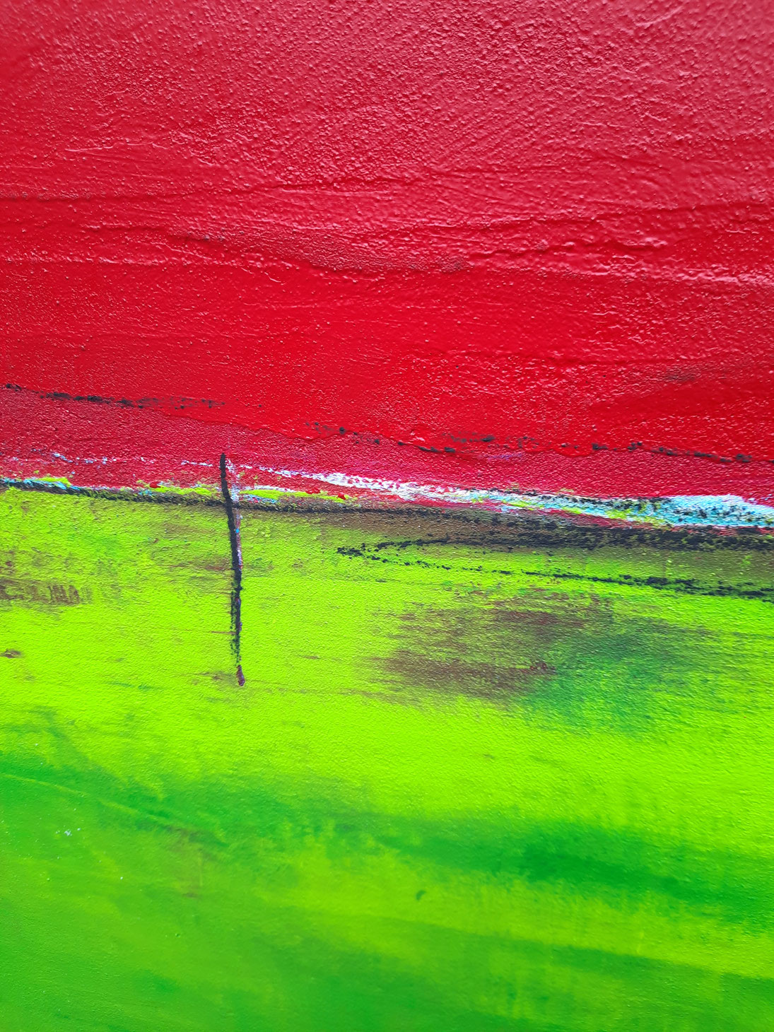 landschaftsbild -grün, rot