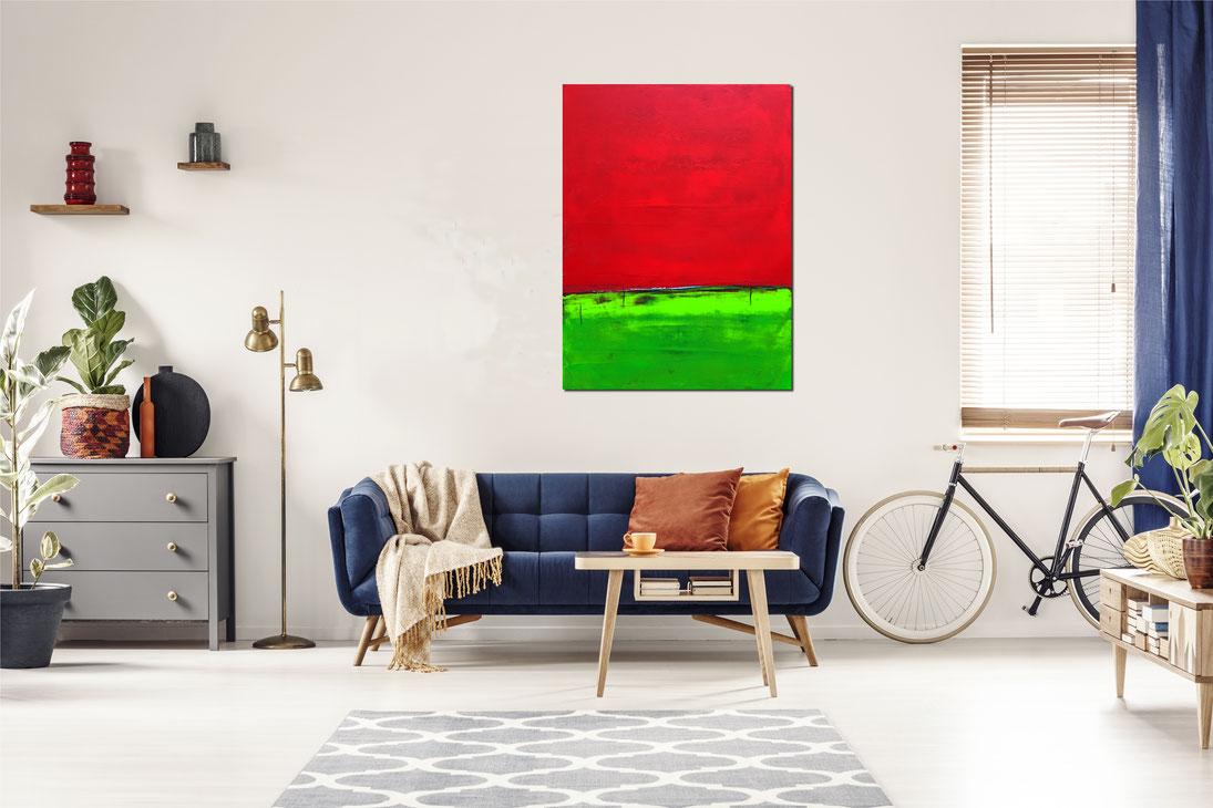 knalliges Bild - 130 x 110 cm