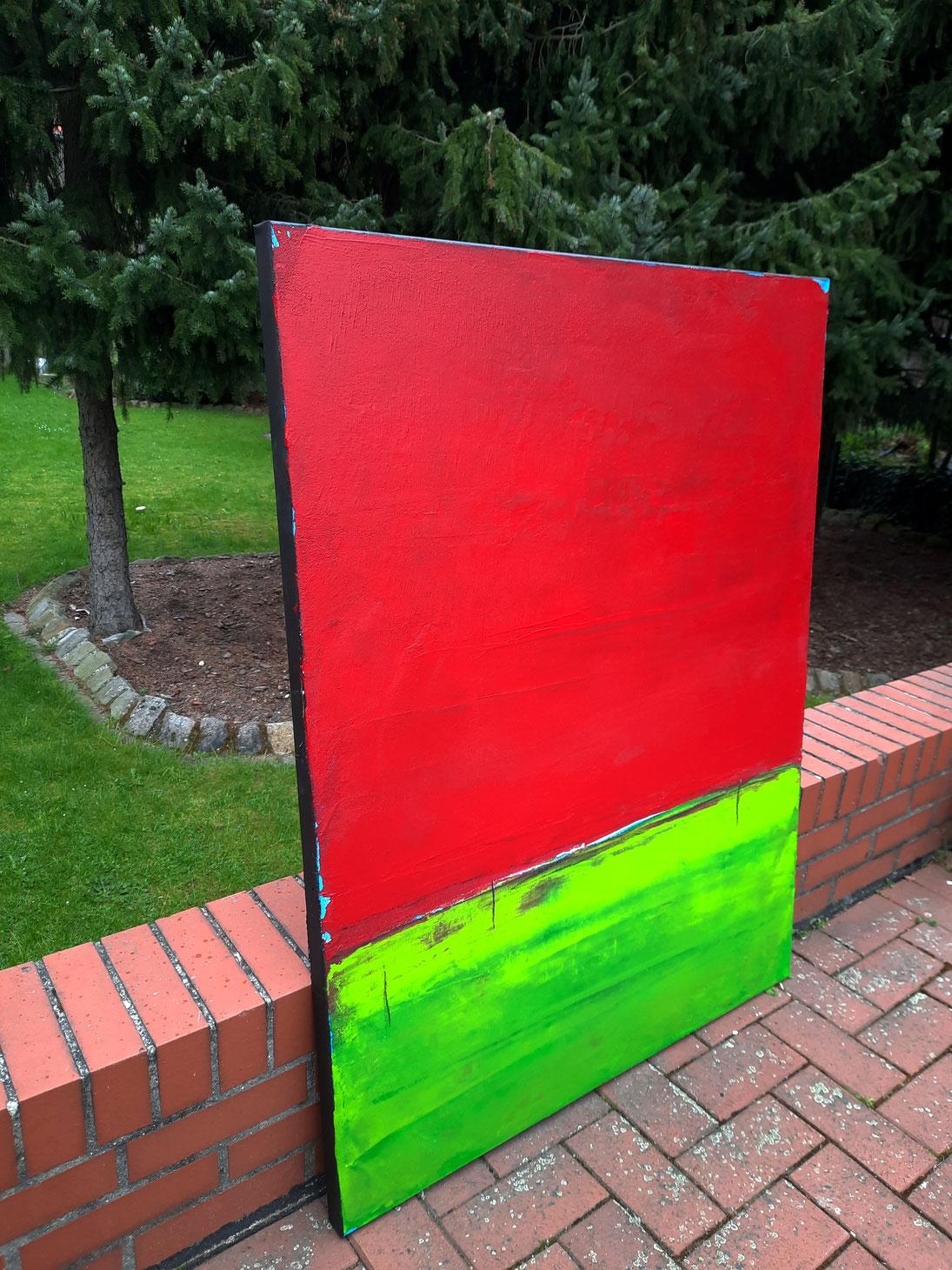 Landschaftsbild grün rot