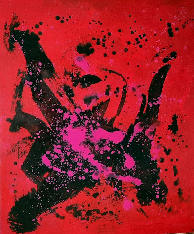 Bild - Tanzsport - rotes großes Bild - 130 x 110 cm