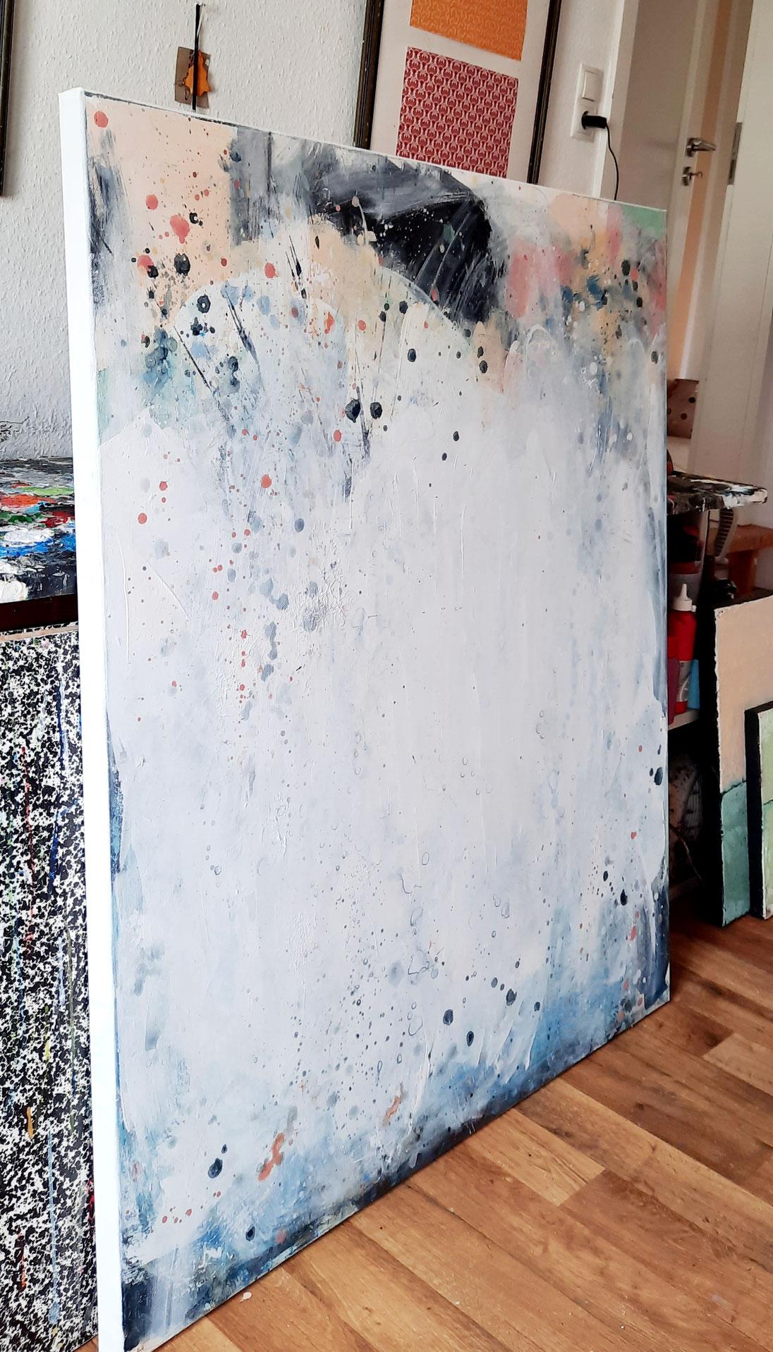 Acrylmalerei Weiss Pastell