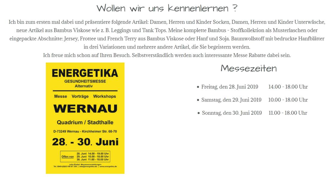 Energetika Gesundheitsmesse, Juni 2019 in Wernau