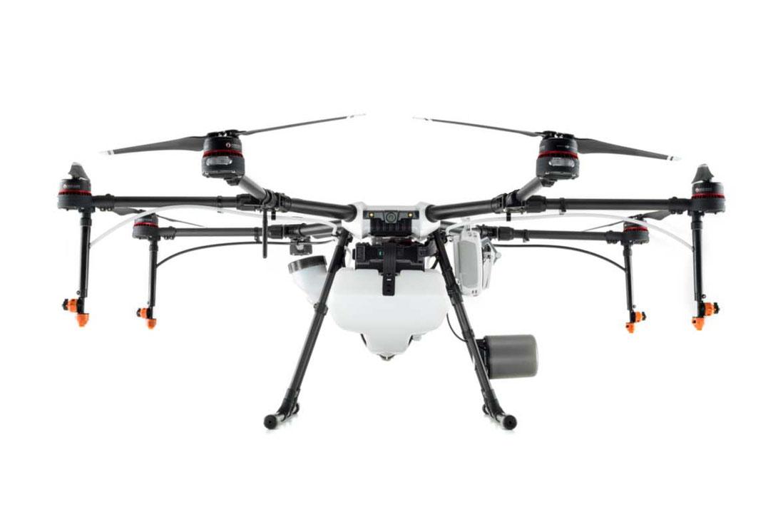 Agras MG 1P es el dron fumigador de ultra bajo volumen más eficiente, reduce drásticamente los riesgos e insumos e incrementa la productividad en el campo