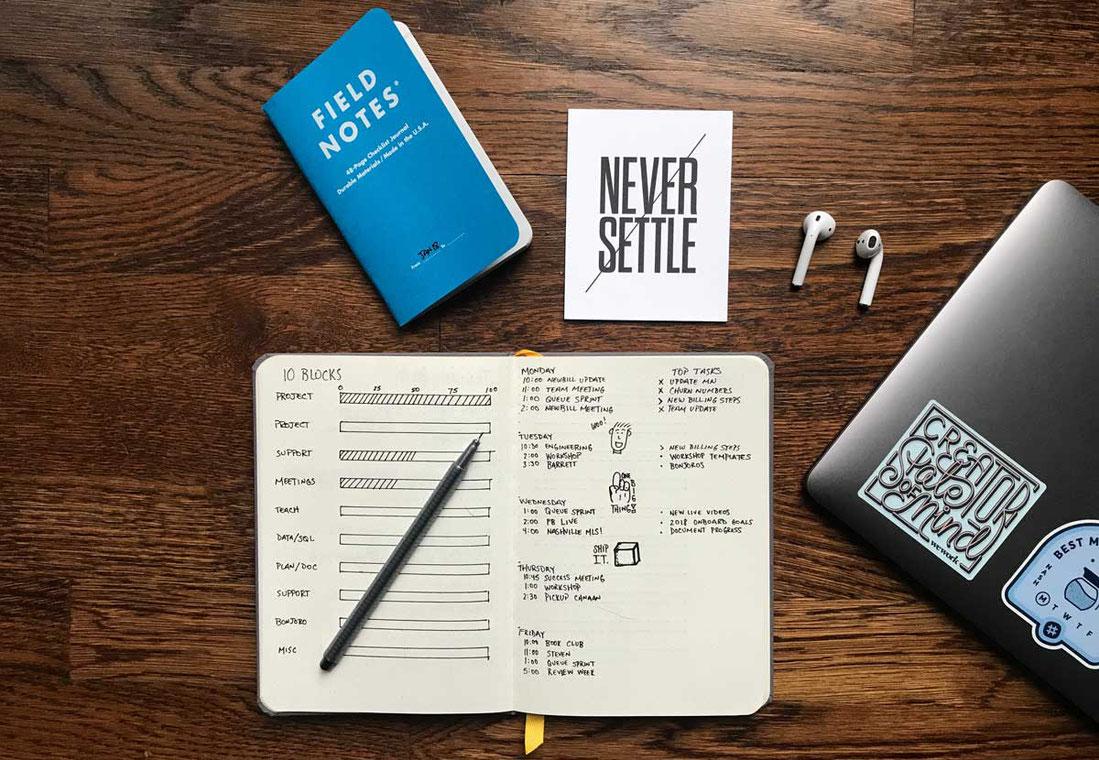 Kalender selbst gestalten Bullet journal Planer