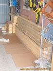 Garten Sauna selbst gebaut Blockhaus Holz Gartensauna