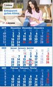 3-Monats-Einblock-Kalender 2019