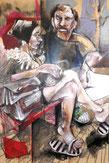 """""""Couple, banc public"""" 120/80cm, 2011"""